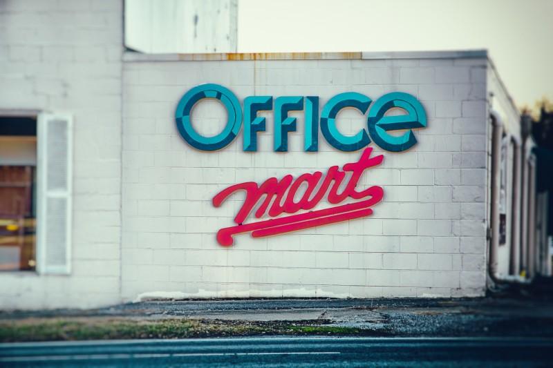 Vintage Office Furniture Sign